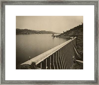 Stony Gorge Dam In Northern California Framed Print