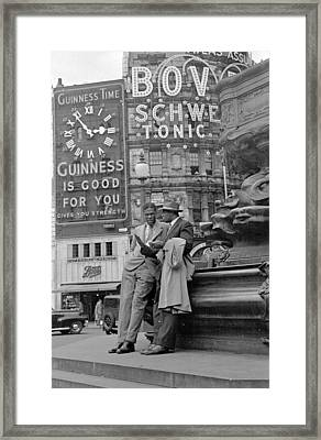 Stood In Piccadilly Framed Print by Bert Hardy