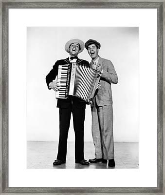 Stooge, Dean Martin, Jerry Lewis, 1952 Framed Print