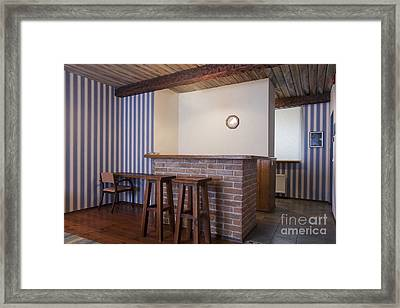 Stools And Counter In A Hotel Suite Framed Print by Jaak Nilson