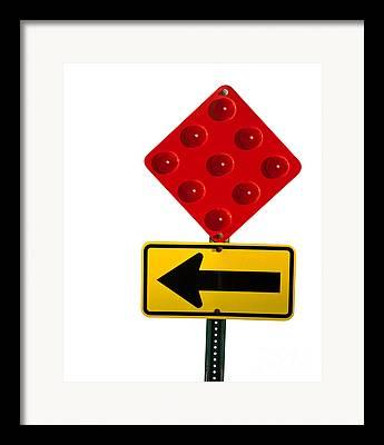 Roadblock Framed Prints