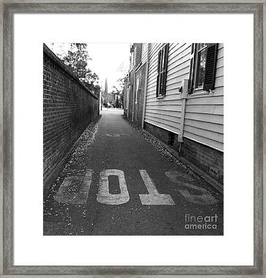 Stop Framed Print by Andrea Anderegg