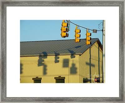 Stop At The Cross Framed Print