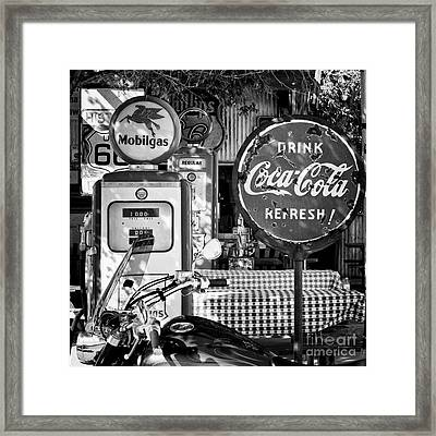 Stop For Gas And Drink Framed Print