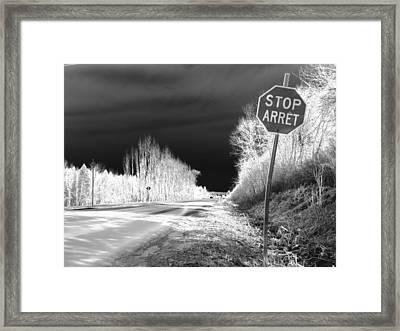 Stop For Nothing Framed Print