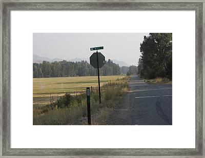Stop Here Framed Print by Jeannine Welfelt