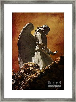 Stop In The Name Of God Framed Print