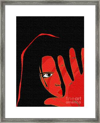 Stop Framed Print by Mimo Krouzian