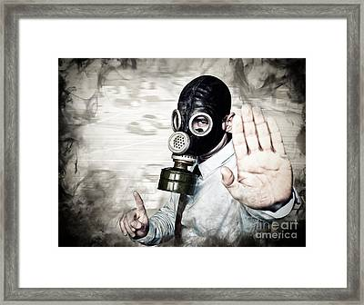 Stop Pollution Framed Print by Gualtiero Boffi