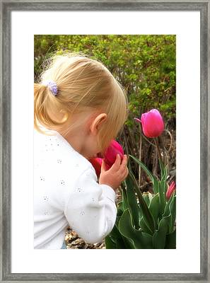Stop To Smell The Flowers Framed Print