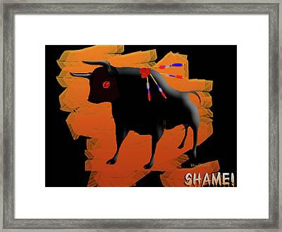 Stop Violence Framed Print by Asok Mukhopadhyay