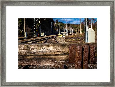 Framed Print featuring the photograph Stoppage by Matti Ollikainen