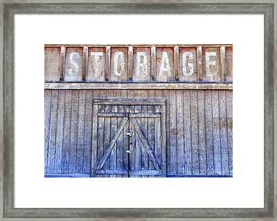 Storage - Architectural Photography Framed Print by Karyn Robinson