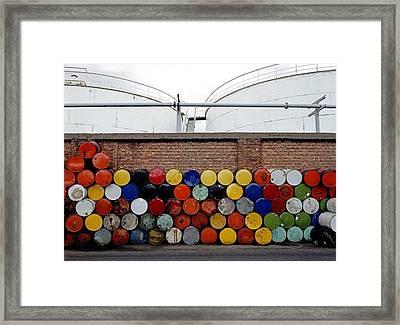 Storage Barrels Framed Print by Dirk Wiersma