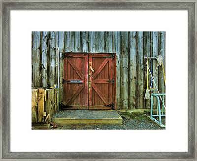 Storage Shed Framed Print by Steven Ainsworth