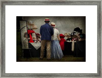 Store - The Hat Stand  Framed Print by Mike Savad