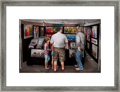 Store Front - Artist - Puppy Love  Framed Print by Mike Savad