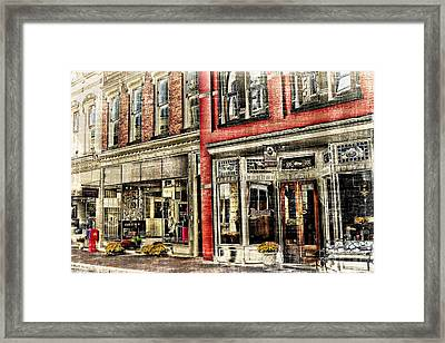 Store Front Downtown Staunton Framed Print by Kathy Jennings