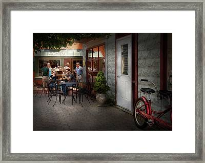 Storefront - Frenchtown Nj - At A Quaint Bistro  Framed Print