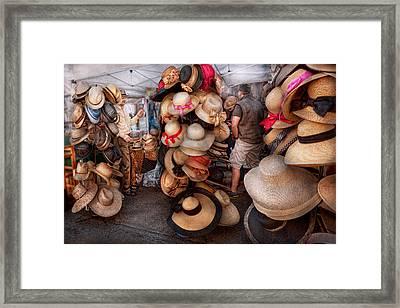 Storefront - Hat Stand Framed Print