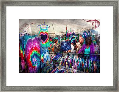 Storefront - Tie Dye Is Back  Framed Print by Mike Savad