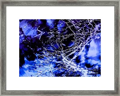 Storm Abstract Framed Print by Tashia Peterman