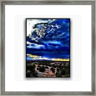 Storm A'comin Framed Print