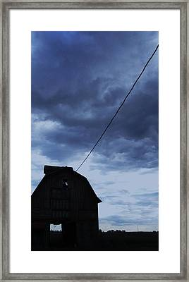 Storm Acoming Framed Print by Todd Sherlock