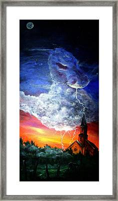 Storm Against Christianity Framed Print by Leslie Hoops-Wallace