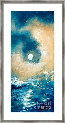 Framed Print featuring the painting Storm by Ana Maria Edulescu