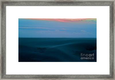 Storm And Blued Dunes Framed Print