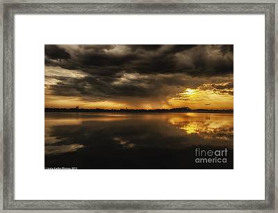 Framed Print featuring the photograph Storm Approaching by Linda Karlin