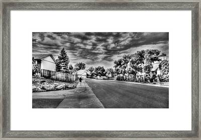 Storm Approaching Framed Print by Sergio Aguayo