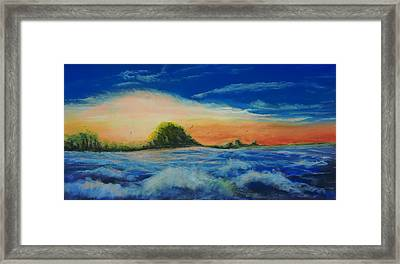 Storm At Low Sun Framed Print by Peter Jackson