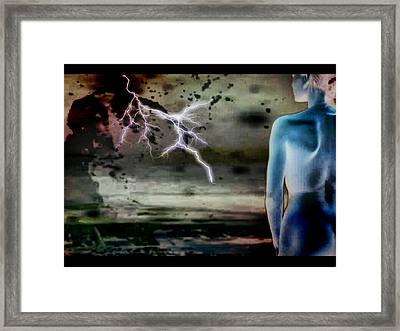 Framed Print featuring the digital art Storm by Beto Machado
