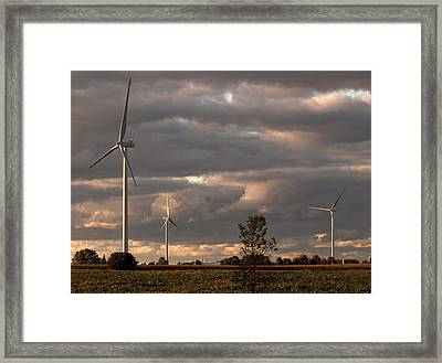 Storm Blowing In Framed Print