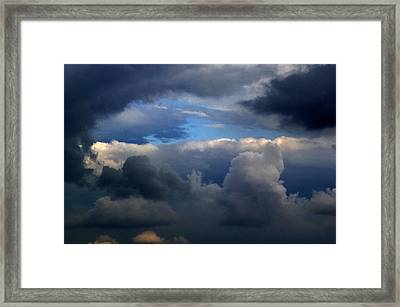 Storm Brewing Framed Print by Frank Blakely