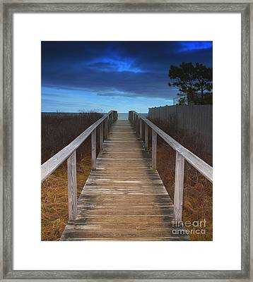 Storm Brewing In Color Framed Print