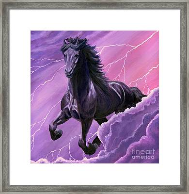 Framed Print featuring the painting Storm Chaser by Sheri Gordon