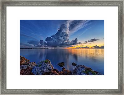 Storm Framed Print by Claudia Domenig