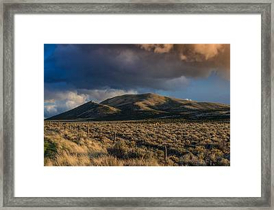 Storm Clearing Over Great Basin Framed Print by Greg Nyquist