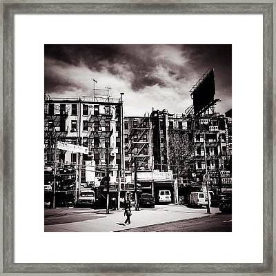 Storm Clouds - Chinatown - New York City Framed Print