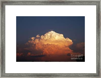 Framed Print featuring the photograph Storm Clouds At Sunset by Mark Dodd