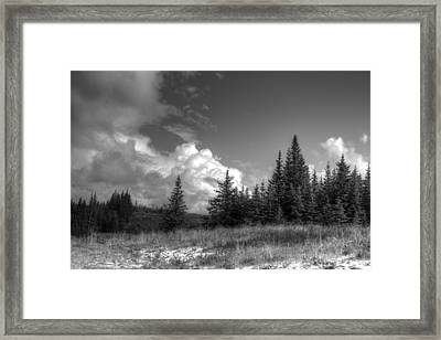 Framed Print featuring the photograph Storm Clouds Building by Michele Cornelius