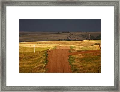 Storm Clouds In Saskatchewan Framed Print