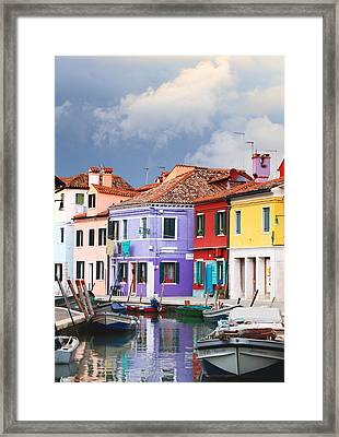 Storm Clouds Over Burano Framed Print by Paul Cowan