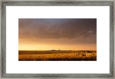 Framed Print featuring the photograph Storm Clouds Over Dia by Monte Stevens