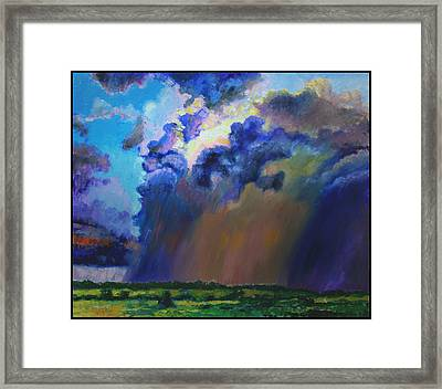 Storm Clouds Over Missouri Framed Print by John Lautermilch