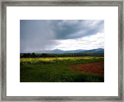 Storm Comes Framed Print by Guadalupe Nicole Barrionuevo
