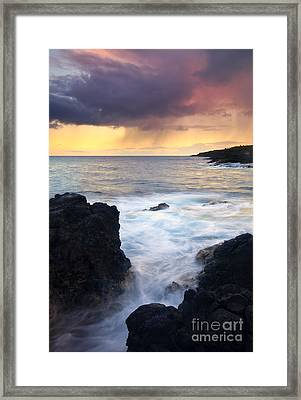 Storm Fissure Framed Print by Mike  Dawson
